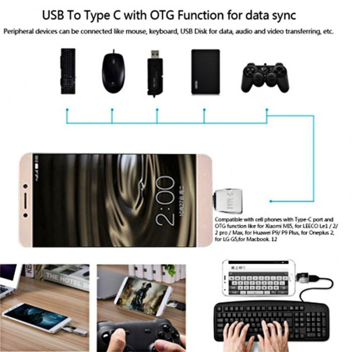 Metal Keychain Type-c Adapter Kits Usb To Type C Otg Converter For Google Pixel Xiaomi Qjy99 Computer Cables & Connectors