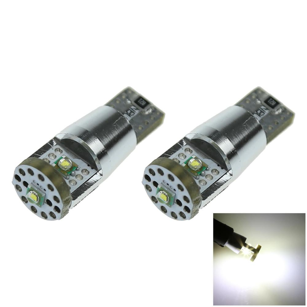2/4pcs High power 15W Car Styling T10 LED ERROR FREE CANBUS 3 SMD XP-E chips XENON WHITE W5W SIDE BULB 12-24V