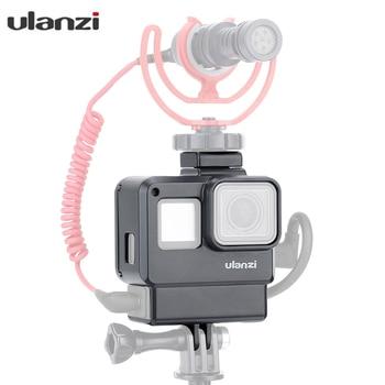 Funda ULANZI V2 GoPro Vlogging carcasa con soporte de zapata fría para GoPro Hero 7 6 5 a montó Videomicro micrófonos