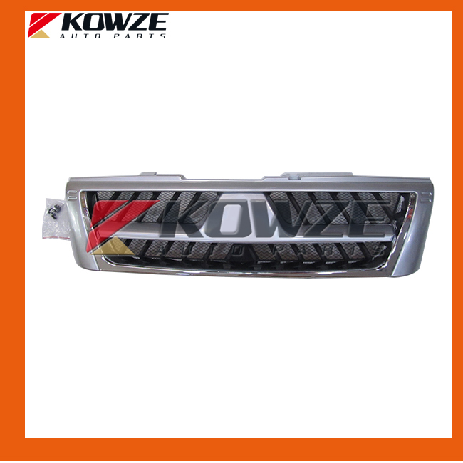 Bumper Radiator Grille for Mitsubishi Pajero Montero Shogun 3th III 2000-2006 power steering oil pump assy for mitsubishi pajero montero shogun ii 3 0 3 5 l v6 6g72 6g74 mr267662
