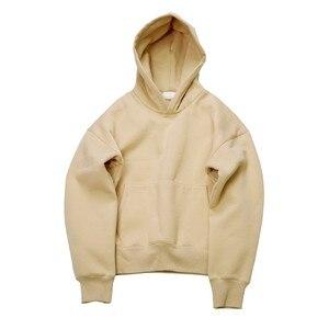 Image 4 - Qoolxcwear Zeer Goede Kwaliteit Mooie Hip Hop Truien Met Fleece Warm Winter Heren Kanye West Hoodie Sweatshirt Swag Solid Trui