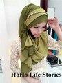 CJ66 Новый стиль двухцветный высокого качества две стороны Шифон Красивая Мода мусульманская хиджаб мусульманский платок шарф