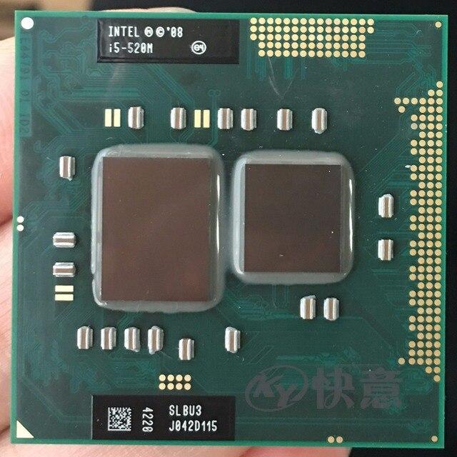 Ban đầu Bộ Vi Xử Lý Intel Core I5 520 M i5 520 M 3 M Cache 2.4 GHz Laptop Xách Tay Bộ Vi Xử Lý CPU I5-520M