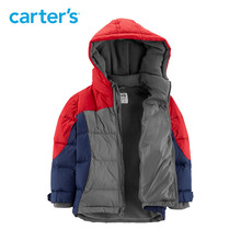Why Buy Carter's coat boy fashion patchwork hooded warm