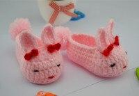 Newborn cartoon first walkers Baby Shoes Infants Crochet Knit Fleece Boots Toddler Boy Wool Crib Shoes Winter Booties soft-soled