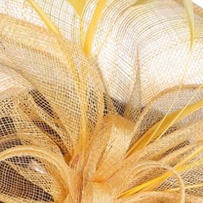 Бирюзовый синий головной убор Sinamay шляпа с пером хороший свадебный головной убор красные свадебные шапки очень хороший 20 цветов можно выбрать MSF094 - Цвет: Цвет: желтый