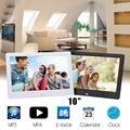 """10 """"LCD HD Digital Photo Picture Frame Movie Music Video Mp3 Mp4 Player Fotografia Decor Suporte a Controle Remoto"""