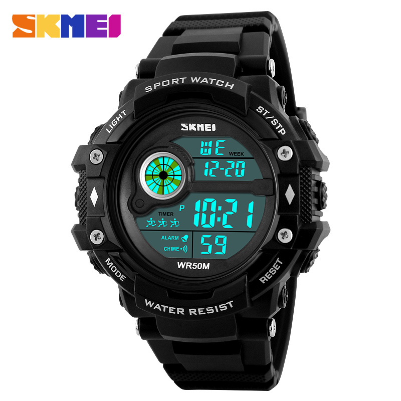 Watches Digital Watches Genteel Mens Sports Watches Famous Brand Luxury Mens Military Army Watch Digital Led Electronic Waterproof Men Wristwatches Skmei 1280 To Enjoy High Reputation At Home And Abroad