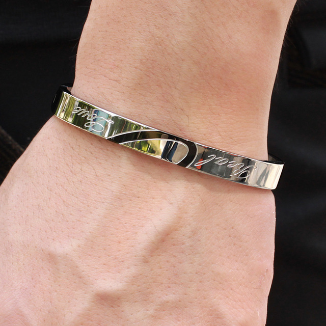 Браслет из титановой стали браслеты для влюбленных подарки ко