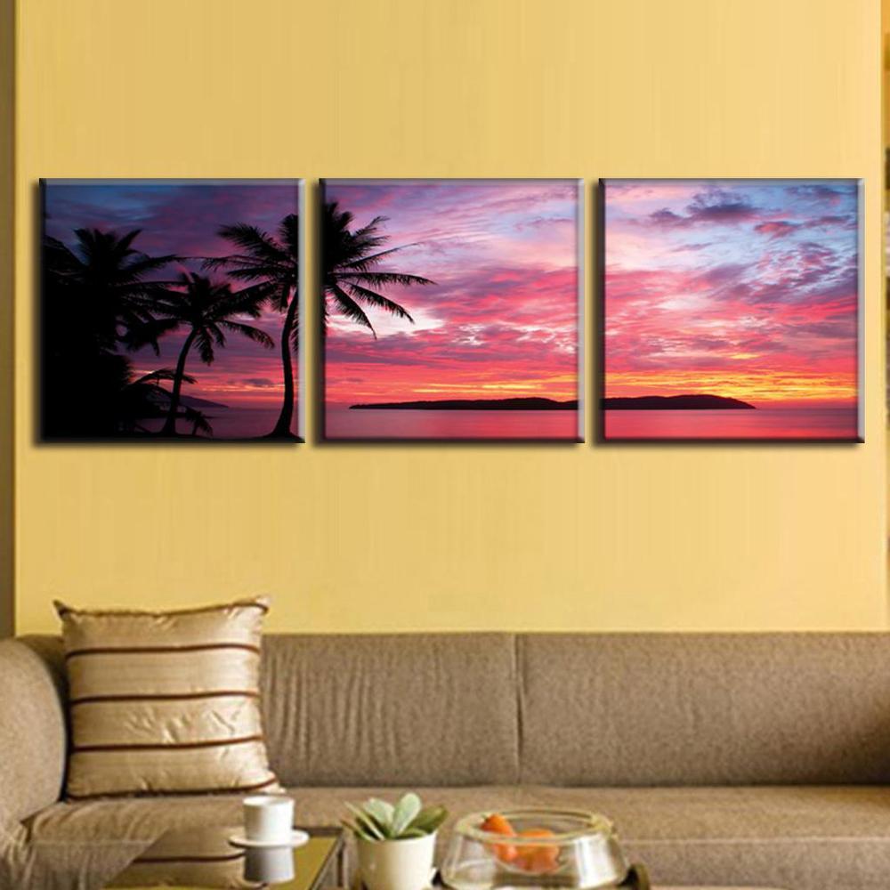 3 Pcs/Set Canvas Wall Art Picture Modern Seascape Painting Canvas ...