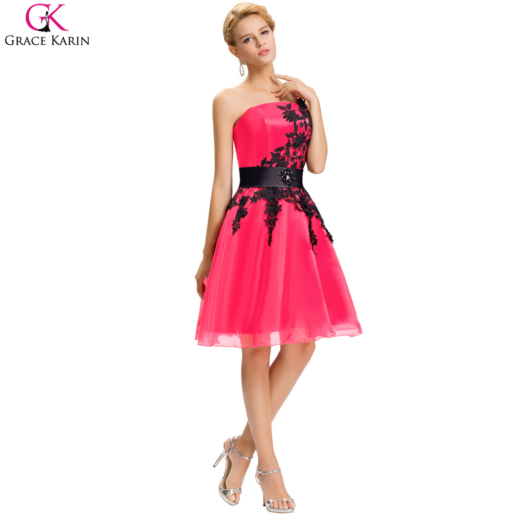 Grace karin one shoulder short rose pink blue white cheap grace karin one shoulder short rose pink blue white cheap bridesmaid dresses 2017 sexy black appliques lace wedding party dress in bridesmaid dresses from ombrellifo Gallery