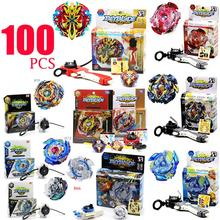 100 PCS HOT Beyblade Burst 4D Set With Launcher and Arena Metal Fight Battle Fusion Classic Toys With Original Box For Kid Gift