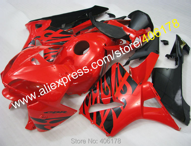 Hot Sales,Black Flame Body Fairings For Honda CBR600RR F5 2005 2006 CBR 600 RR 05 06 CBR 600RR Fairing Kit (Injection molding)