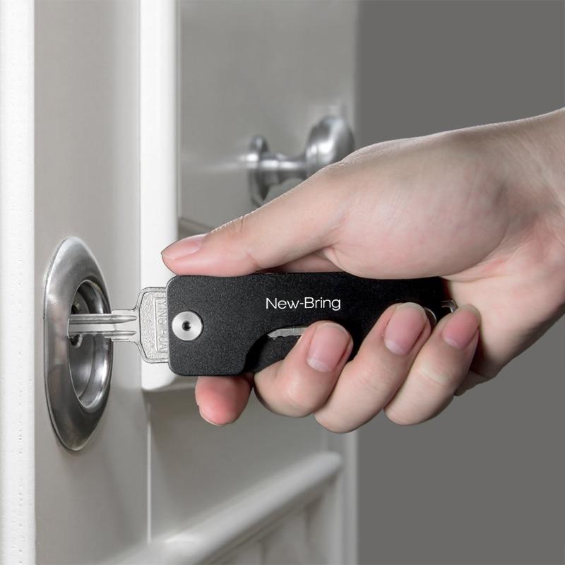 Key Holder Aluminum Metallic Key Organizer Smart Key Ring Wallets Pocket Metal Car Key Wallet Keychain костюм key key mp002xw0dlfr