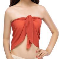 Women sexy beach skirt Beach Dress Sexy Beach Sarong Bikini Cover-ups Wrap Pareo Skirts Towel Open-Back Swimwear Cover Up 1