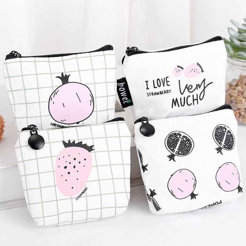 New Small Cute Women Female Coin Wallet Canvas Coin Purse Girl Kid Card Holder Money Pouch Cactus Change Pouch Key Bags cute girl hasp small wallets women coin purses female coin bag lady cotton cloth pouch kids money mini bag children change purse