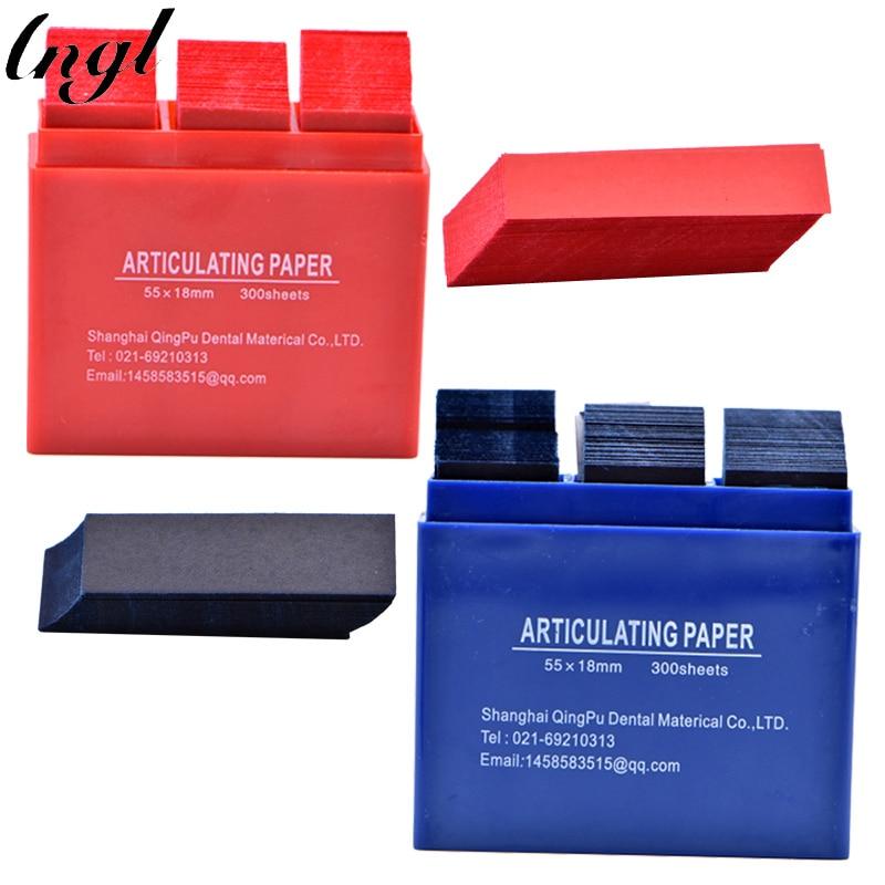 2 boxen Dental Rot & Blau Gelenk Papier Streifen Zahnmedizin Labor Material Oral Zähne Bleaching Material 55*18mm dental Werkzeuge