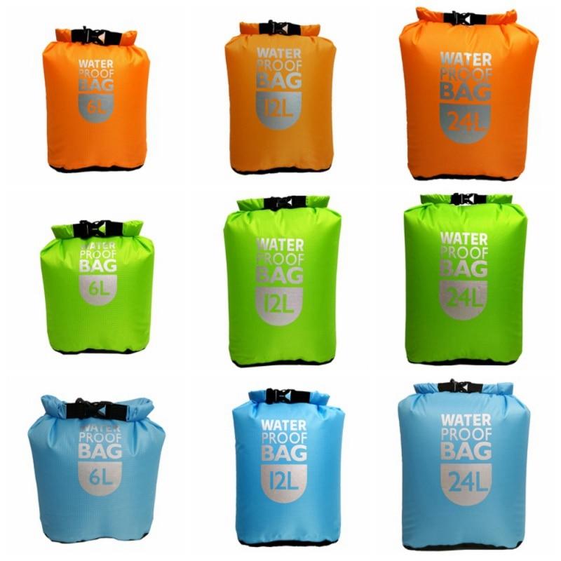 6L/12L/24L Portable Durable Waterproof Dry Bag Pack Sack Outdoor Sport Swimming Sailing Storage Bag