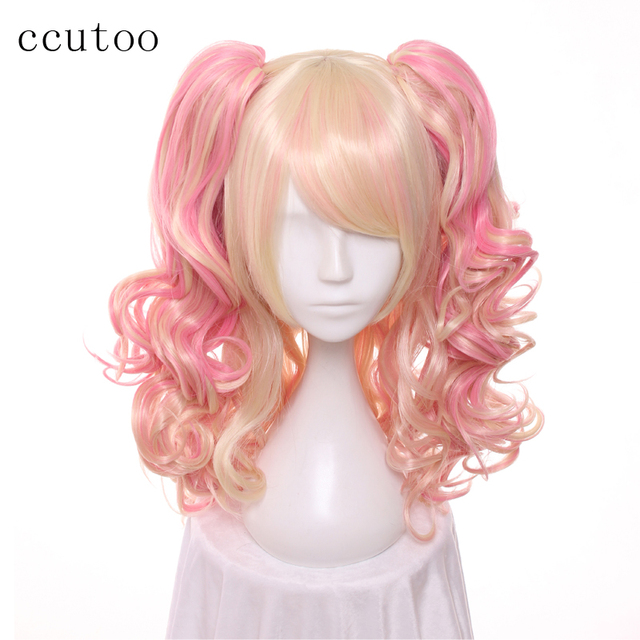 Ccutoo 65cm Wavy Long Synthetic Wig With Removable Chip Ponytails