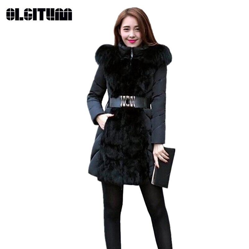 2018 Fashion Women Parkas Winter Jacket Slim Design Cotton padded Winter Coat Women Thicken Outerwear CC397