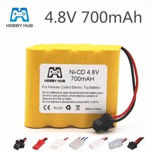 4.8 V 700mAh NI-CD Battery For RC Boat Car Toy Model 4.8v Bateria 4.8v nicd battery 4* AA Battery Pack 1pcs(China)