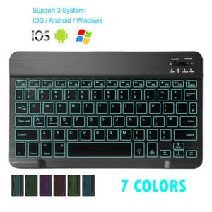Image 1 - Mini Bluetooth Klavye MT07 Ince Taşınabilir Mini Kablosuz Klavye IOS Android Windows PC Bluetooth Klavye Arkadan Aydınlatmalı