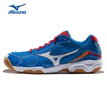 MIZUNO Sports Sneakers Men's CYCLONE POWER Badminton Shoes Air Mesh Breathable Cushioning Wearable Sport Shoes V1GA159024 XYY014