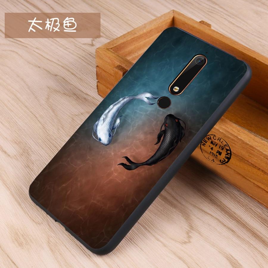 For Nokia 6.1 Plus 6.1 Soft TPU Luxury Matte Cartoon Soft Silicone Premium Back Cover For Nokia 6 2018 7 5.1 Plus 6 Phone Case