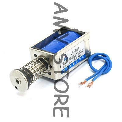 цена на JF-Z05 DC24V 400mA 45N/10mm Linear Motion Pull Push Solenoid Electromagnet