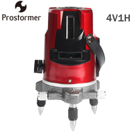 PROSTORMER 5 Lines 6 Points Laser Level 360 Rotary Indoors Outdoors Self Leveling Cross Lazer Professional