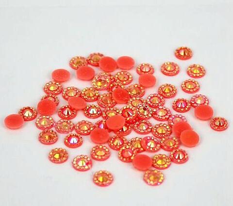 5 mm geléia laranja AB cor SS20 strass resina cristal flatback, Nail Art strass, 30,000 pçs/saco