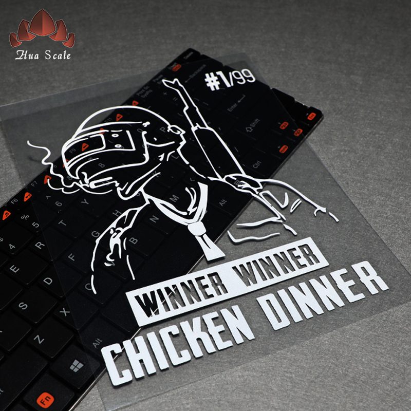 car styling 25x20cm Jedi Survival Night Chicken Reflective Waterproof Car Decals Game Creative Personality Stickers accessories