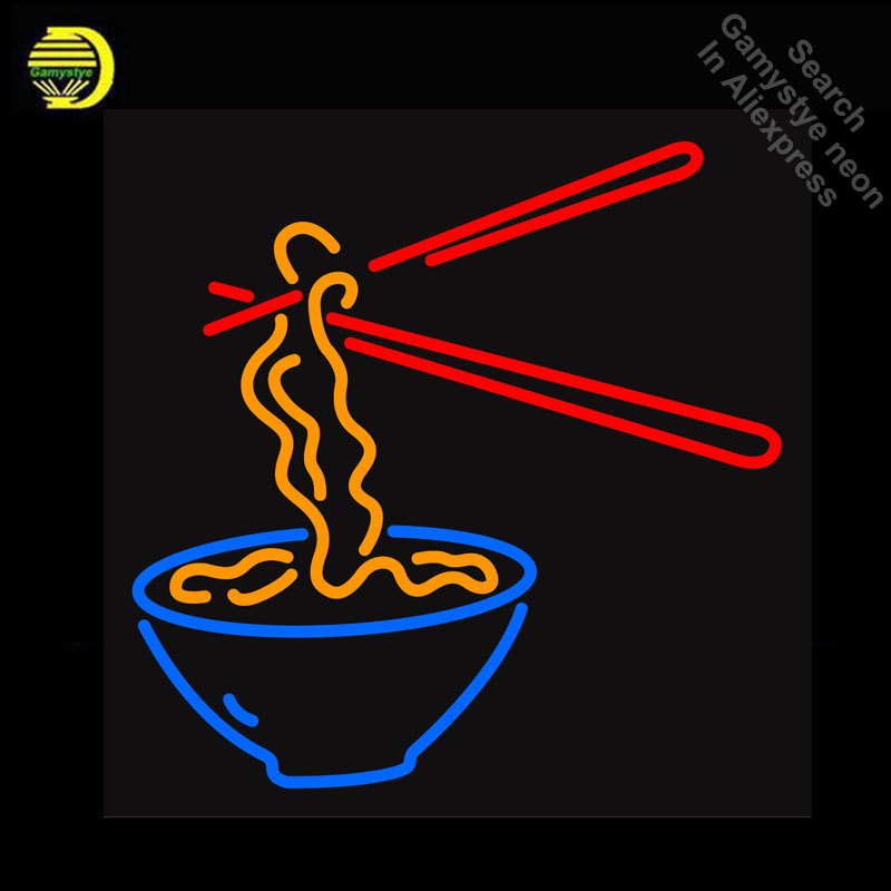 Detail Feedback Questions about NEON SIGN Bowl Noodles GLASS Tube ... 9eb1f264720bc