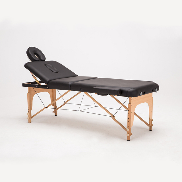 Professional Portable Spa Massage Tables Adjustable with Carrying Bag Salon Furniture Wooden Folding  Bed  Beauty Massage Table