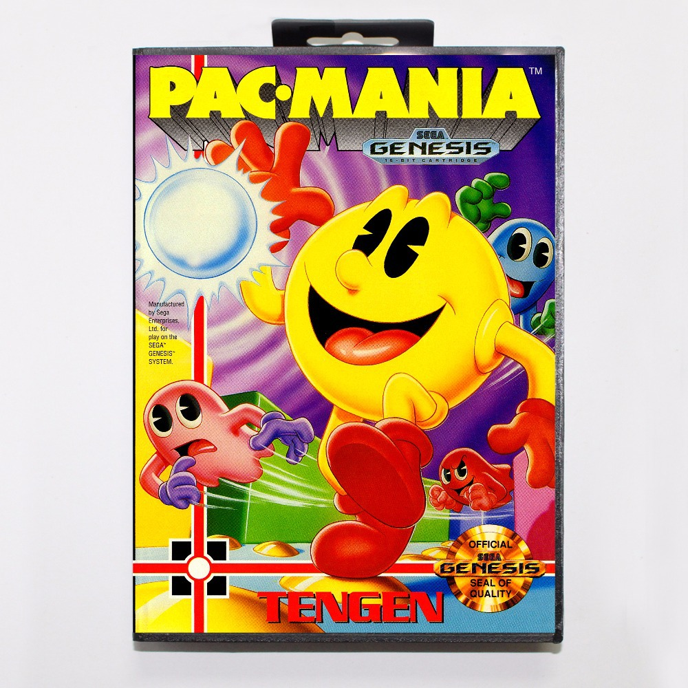 Pac Mania The New Adventures Game Cartridge 16 bit MD Game Card With Retail Box For Sega Mega Drive For Genesis