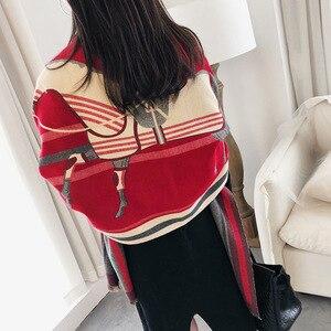 Image 1 - Роскошный брендовый шарф для женщин, модные шарфы и накидки с принтом лошади, толстые теплые кашемировые шарфы, зима 2020, Пашмина, большой шарф