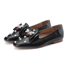 Women Flats Shoes Women Flat Ballet Shoes Soft Moccasins Women Newest Rhinestone Mules Indoor Open Toe Ladies Shoes De Chaussure