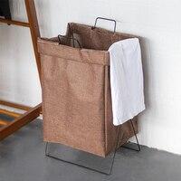 Foldable Linen Stand Laundry Basket Picnic Basket Toy Storage Box Large Bag Washing Dirty Clothes Basket Organizer Bin Handle