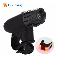 LumiParty Sports Super Bright 200LM Bike Light USB LED Rechargeable Waterproof Bicycle Light Cycling Light Bike