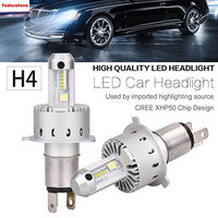 2Pcs H4 9003 80W 16000LM Pair 7S Built In CANBUS Decoder LED Headlight LUMI ZES Cree