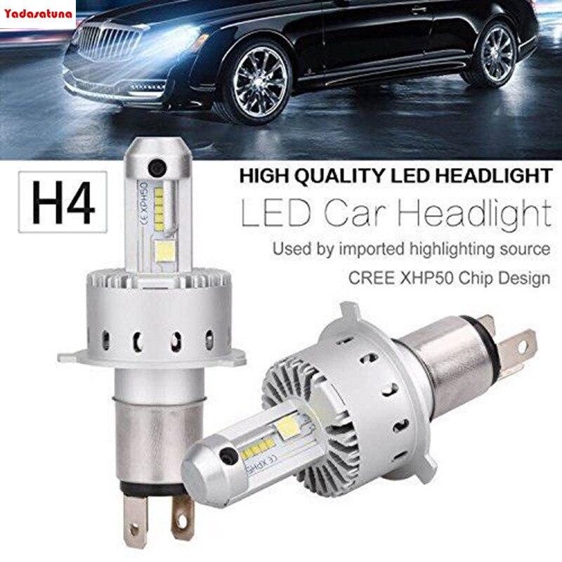 2Pcs H4 9003 80W 16000LM/Pair 7S Built In CANBUS Decoder LED Headlight LUMI ZES + Cree XPH50 Chips 6K Hi/Lo Beam Car Head Lights
