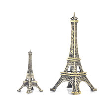 1pc Home Desk Decoration 8/15cm Paris Eiffel Tower Figurine Statue Vintage Model Art Crafts Creative Gifts Souvenir Black(China)