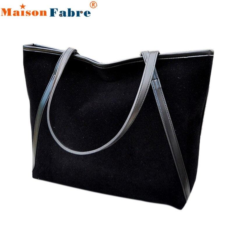 ffb6e0d00a Hot sale Simple Winter Larger Capacity Leather Suede Women Bag Messenger  wholesale DE13