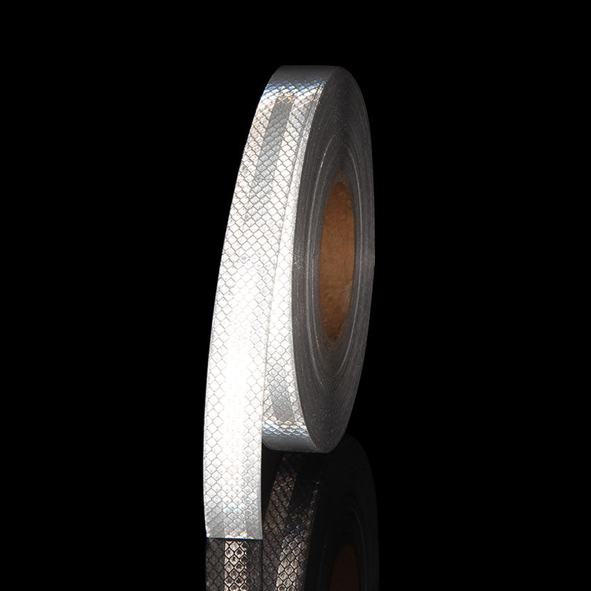 25mmX3meter 3M White Micro Prismatic Sheeting Reflective Adhesive Tape Reflective Tape Stickers Car Cycle Helmet Safety