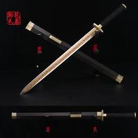 Cold Steel Antique Chinese War Short Sword Green Bronze Fittings Martial Art Hand Metal Craft Fantasy Pattern