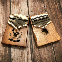 17 Key Kalimba African Solid Pine Bamboo Mahogany Thumb Finger Piano Sanza Mbira Calimba Percussion Wood Musical Instruments