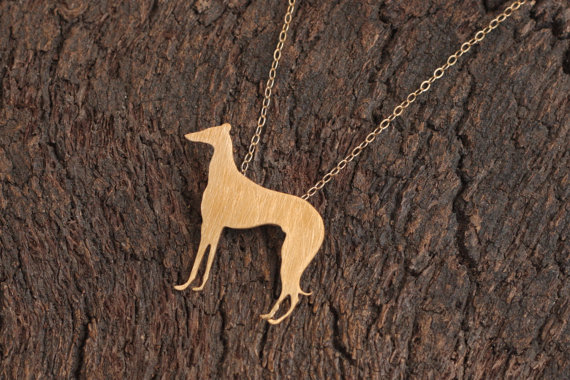 Wholesale Trendy Personalized Saluki Dog Necklace Gold Silver Color Greyhound Jewelry Statement Necklace Cs Go Collares
