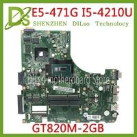 KEFU I5 4210U DA0ZQ0MB6E0 para Acer aspire E5 471 E5 471G V3 472P Laptop motherboard CPU com GT820M GPU original mainboard|Placas-mães| |  -