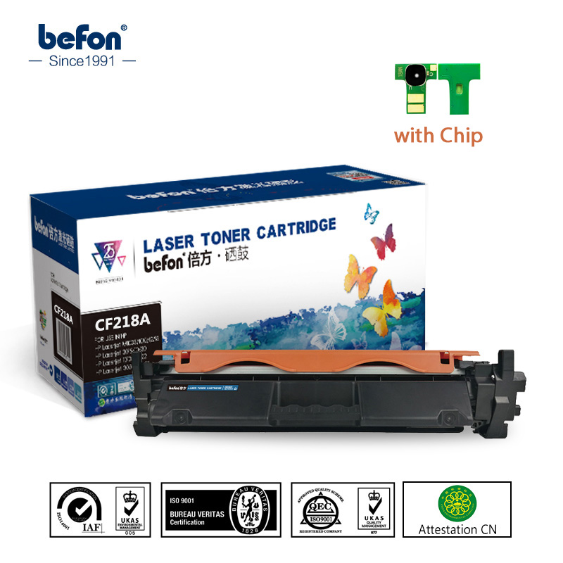 befon with Chip Cartridge Replacement for HP CF218A 218 18A 218A Toner Cartridge for LaserJet Pro M104a M104w 104 132 132a