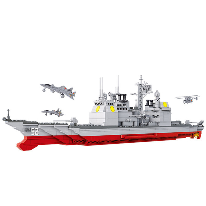 883pcs เด็กอาคารบล็อกของเล่นเข้ากันได้กับ Legoingly city ทหาร battle group cruiser figures อิฐวันเกิดของขวัญ-ใน ชุดการสร้างโมเดล จาก ของเล่นและงานอดิเรก บน   1